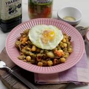 receta ybarra de menestra de garbanzos en aceite virgen extra