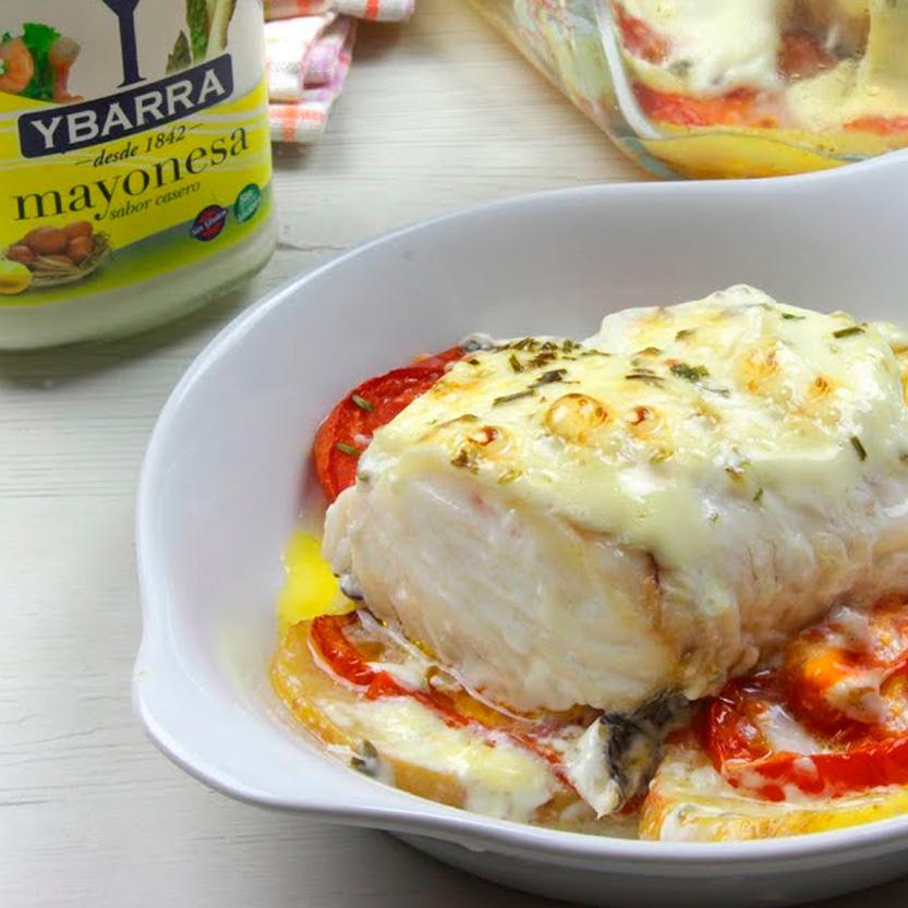 recetas ybarra merluza gratinada a las finas hierbas con mayonesa