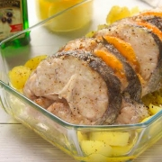 recetas ybarra merluza con patatas y tomate al horno en aceite virgen extra