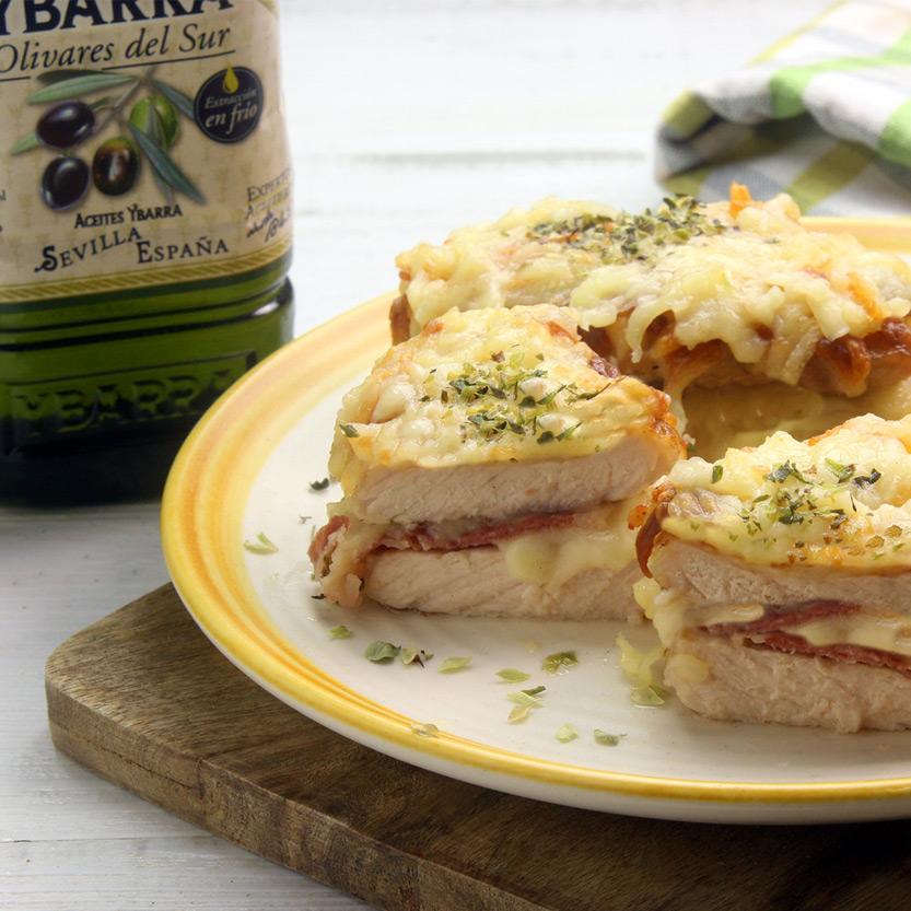 recetas ybarra lomo con jamon y queso