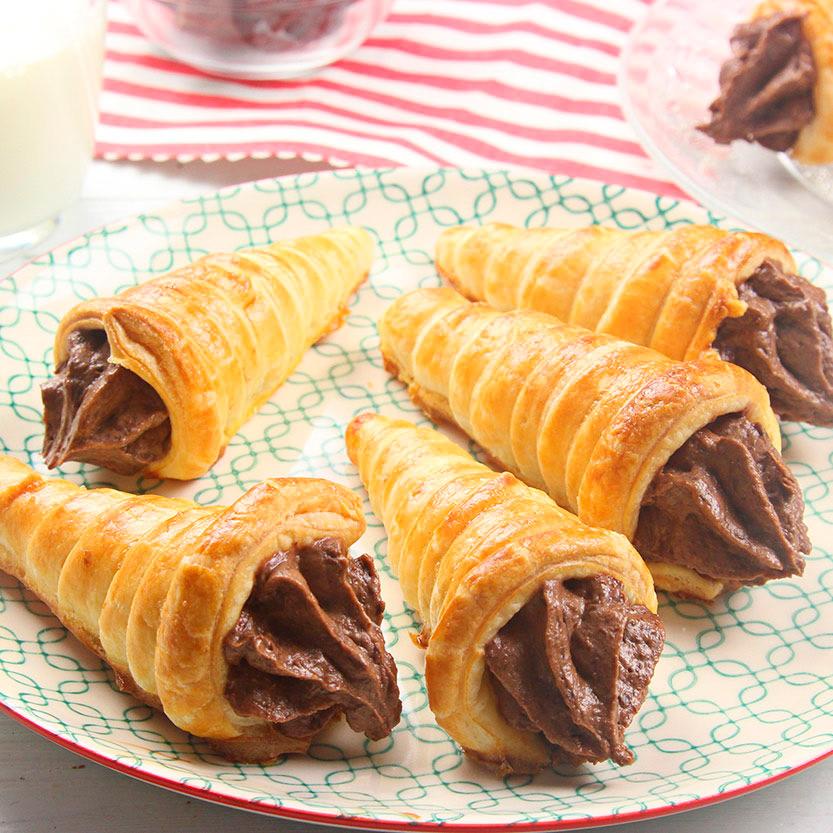 recetas-ybarra-mini-cono-chocolate-hojaldre