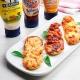 recetas-ybarra-mini-pizzas-calabacin-salsa-barbacoa-salsa-gaucha-mayonesa