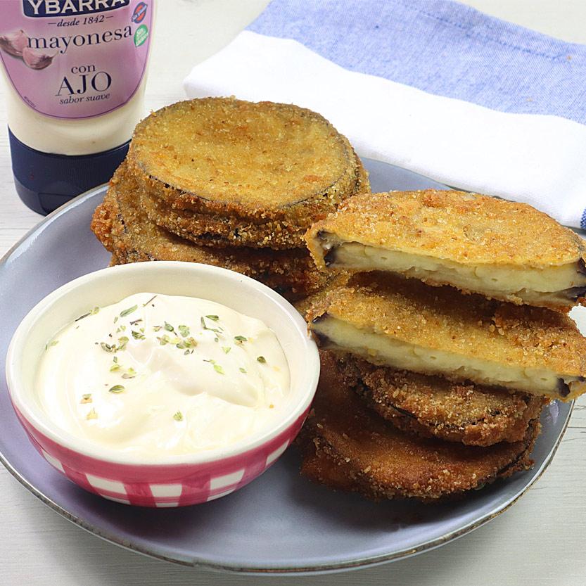 recetas ybarra mini san jacobos con berenjenas y mayonesa de ajo