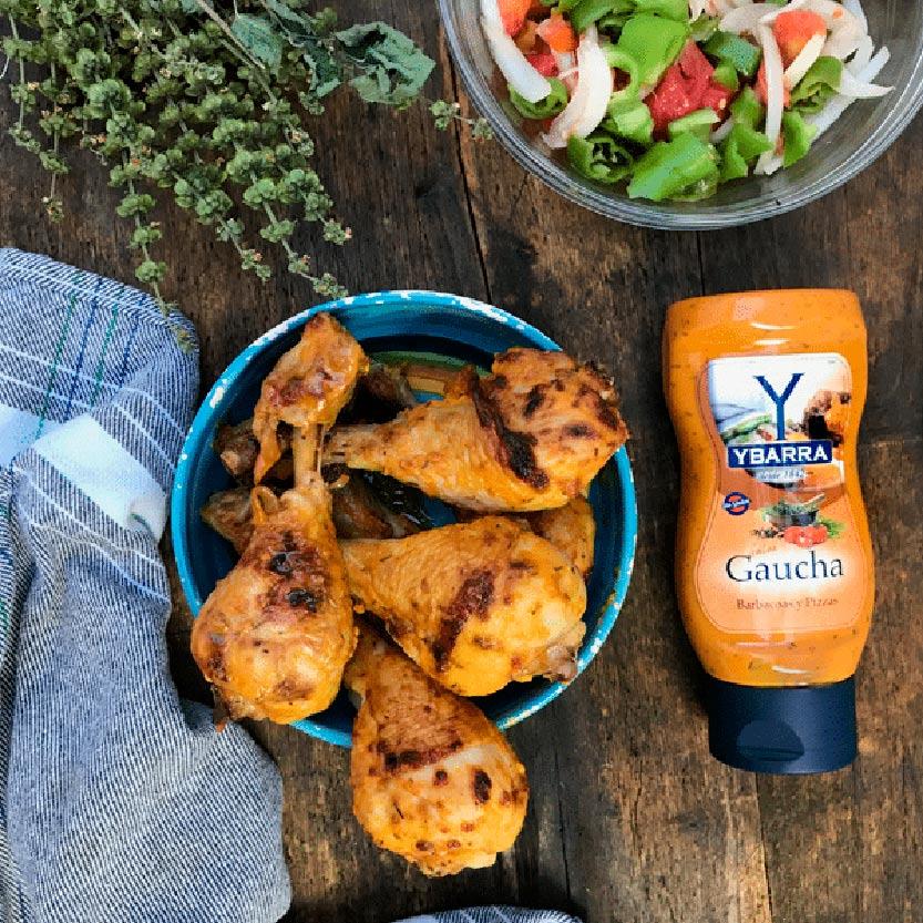 recetas ybarra muslos de pollo a la gaucha
