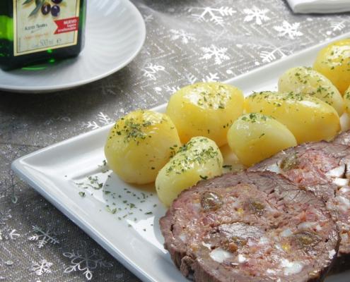 recetas ybarra falda de ternera rellena con aceite virgen extra para navidad