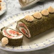recetas ybarra pionono con salmon, queso y mayonesa para navidad