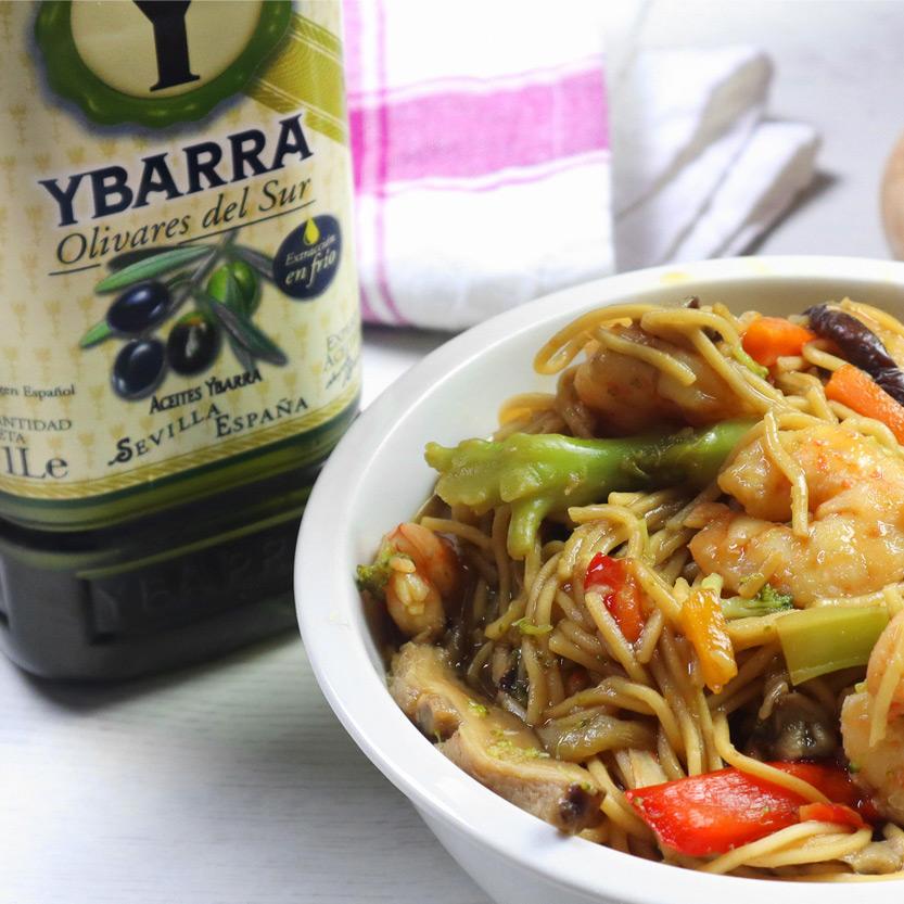 recetas ybarra con noodles y verduras