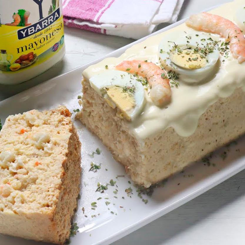 recetas ybarra pastel de pudin de merluza y mayonesa