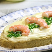 recetas-ybarra-pastel-alcachofas-langostinos-salsa-ligera
