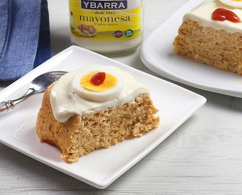 recetas ybarra pastel de esparragos con atun y mayonesa