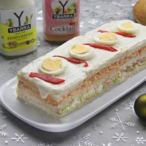 recetas ybarra pastel de navidad con mayonesa y salsa cocktail
