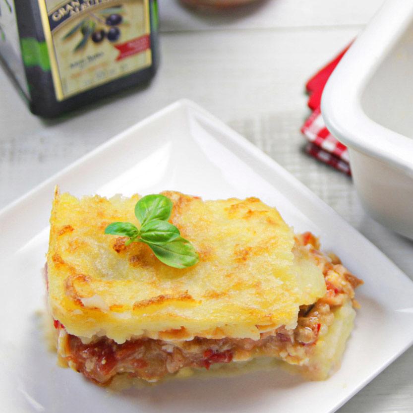 recetas ybarra pastel de patata y pisto