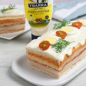 recetas ybarra pastel de primavera con mayonesa