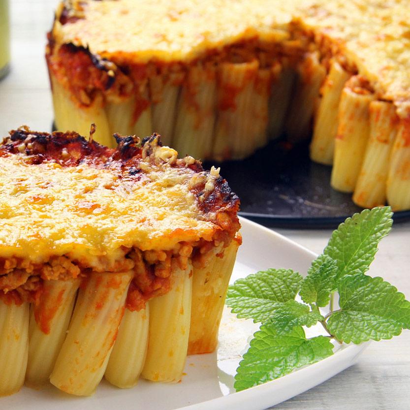 recetas ybarra pastel rigatoni
