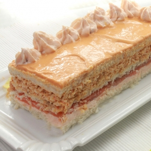 recetas ybarra pastel rosa con salsa cocktail