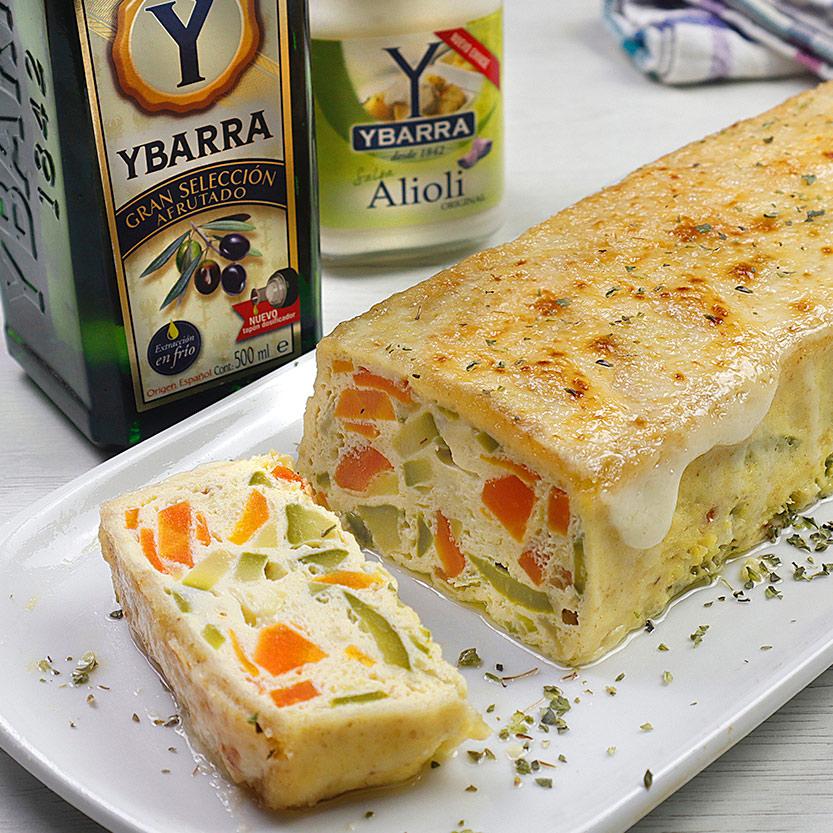 recetas ybarra pastel de verdura gratinado con alioli