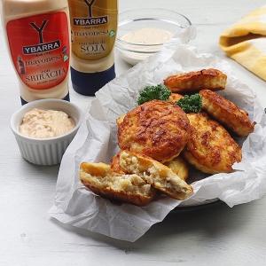 recetas ybarra pastelitos de pollo con mayonesa sriracha y salsa de soja