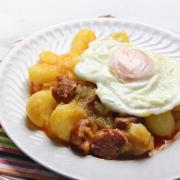 recetas ybarra patatas con choriza y huevo
