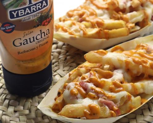 recetas ybarra patatas fritas gratinadas con bacon y salsa gaucha