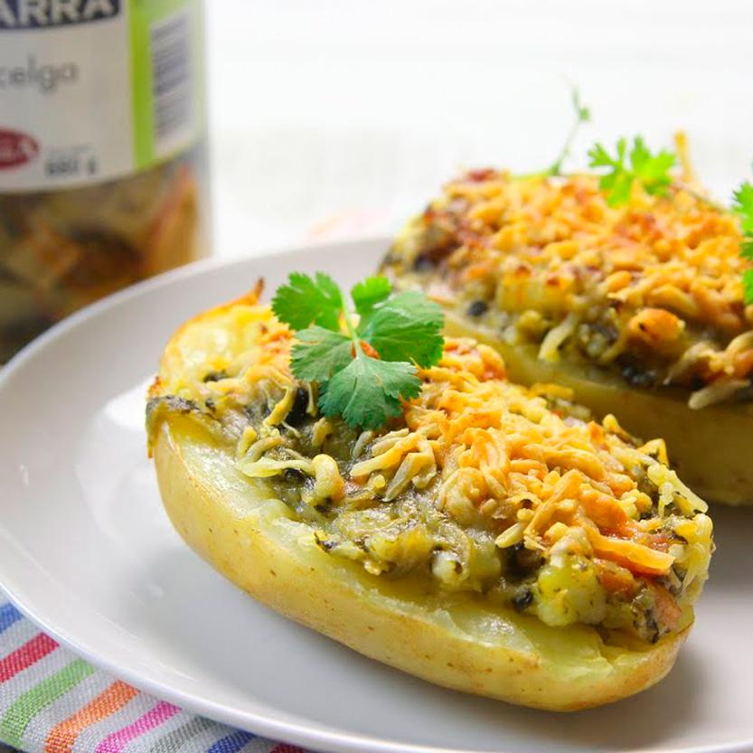 recetas ybarra patatas rellenas de acelgas