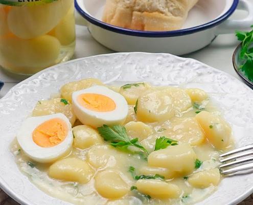 recetas ybarra de patatas en salsa verde