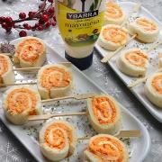recetas ybarra piruletas de langostinos con piquillos y mayonesa