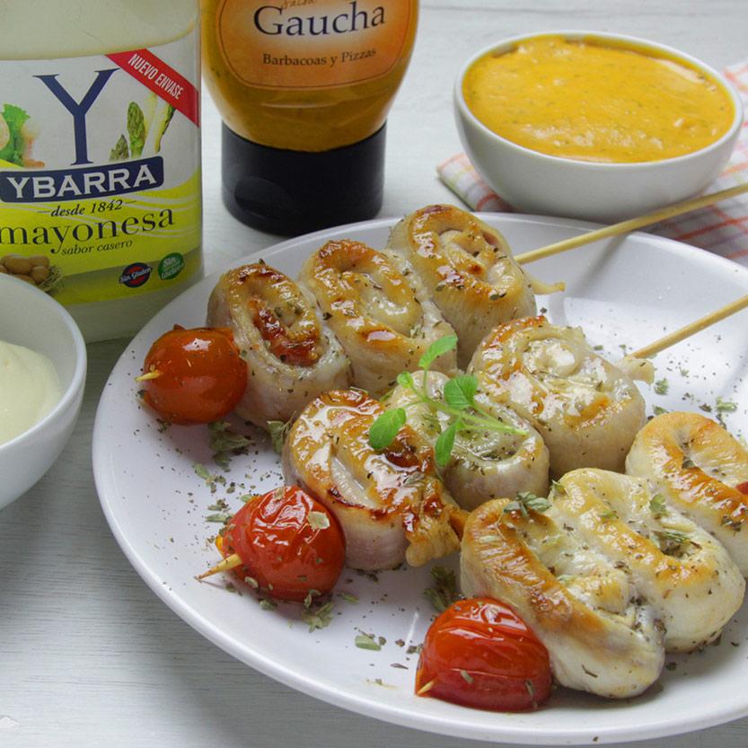 recetas ybarra piruletas de pollo con tomate y mayonesa gaucha