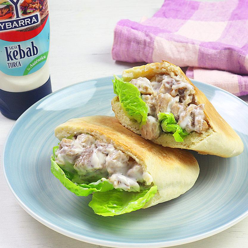 recetas ybarra pita con costilla deshuesada con salsa de kebab