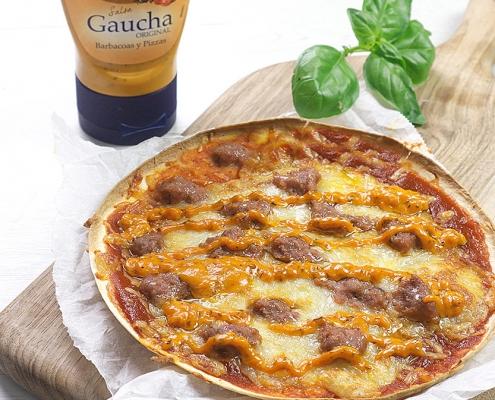 recetas ybarra pizza burguer con salsa gaucha