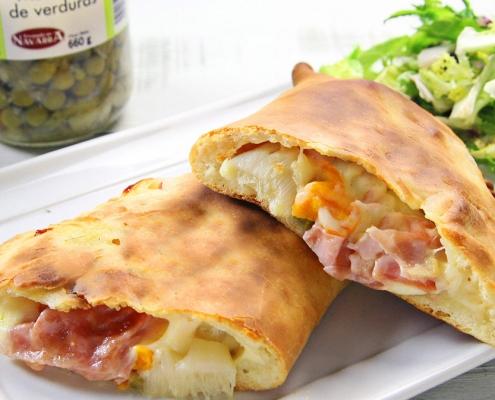 recetas ybarra pizza calzone con menestra y verduras