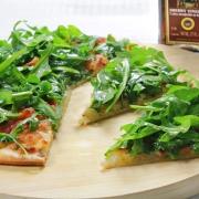 recetas ybarra pizza de rucula blanca y vinagre de jerez