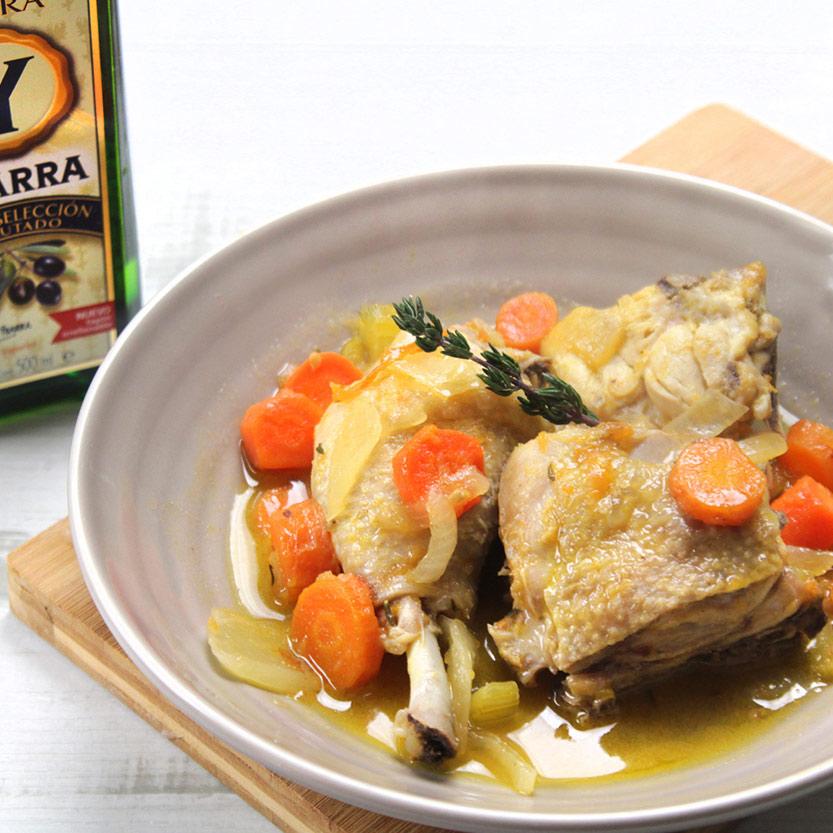 recetas ybarra pollo a la cazadora