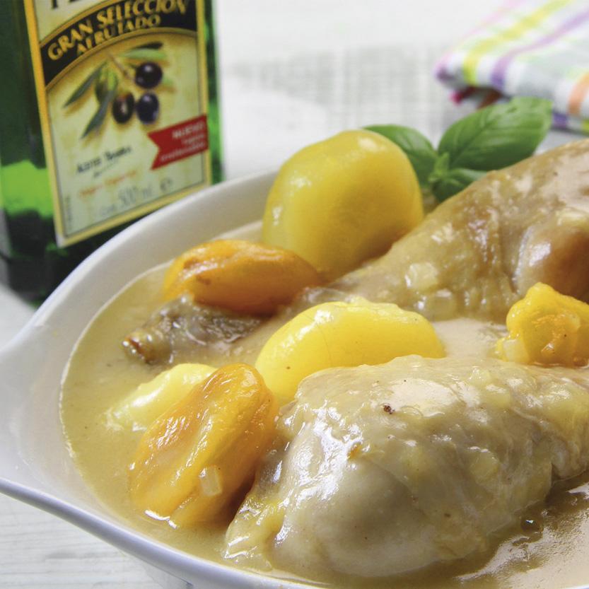 recetas ybarra de pollo a la cerveza con limon y aceite de oliva virgen extra