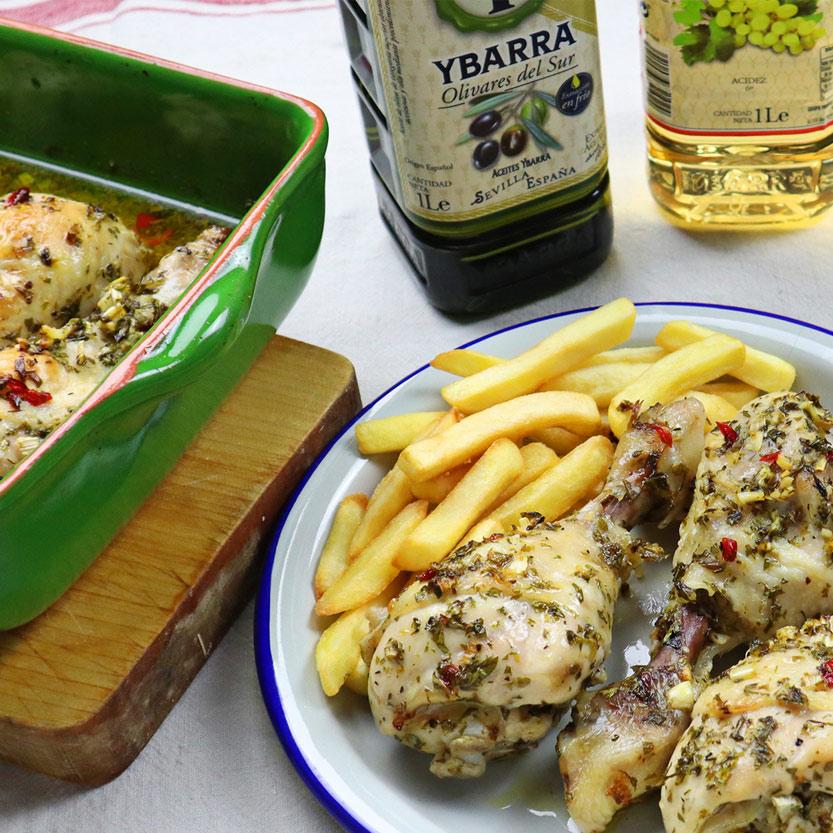 recetas ybarra pollo al chimichurri con vinagre de vino
