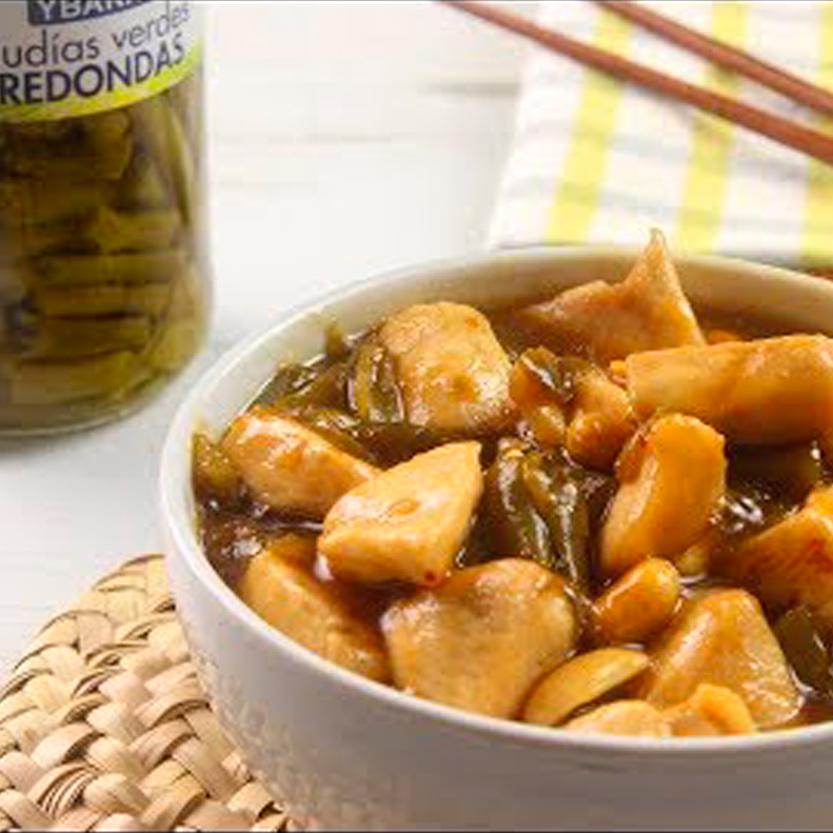 recetas ybarra de pollo chino con judias verdes