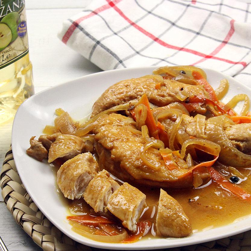 recetas ybarra de pollo en escabeche con vinagre de manzana