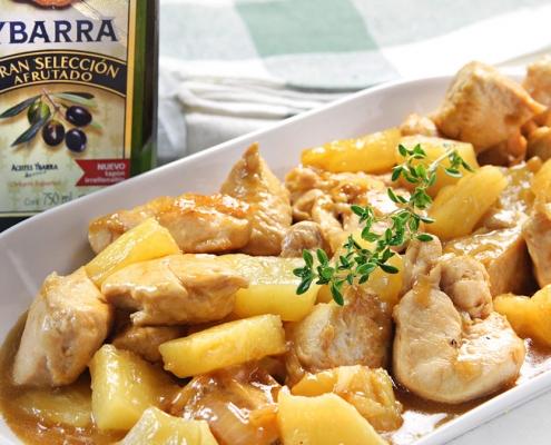 recetas ybarra de pollo con pina