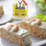 recetas ybarra puding de dorada con langostinos y mayonesa