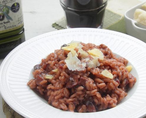 recetas ybarra risotto de vino tinto