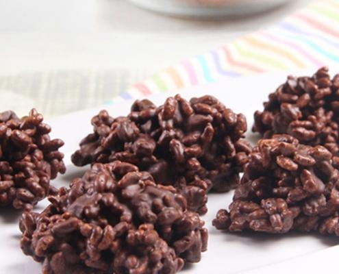 recetas ybarra rocas con chocolate y cereales