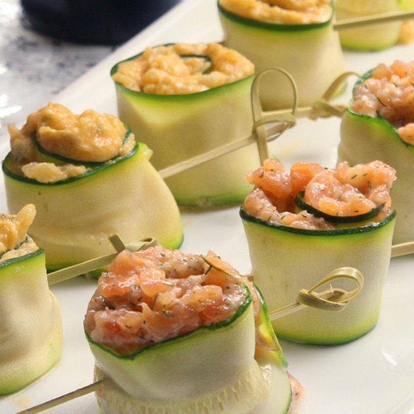 recetas ybarra rollitos de calabacin con salmon