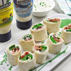 recetas ybarra rollitos de datiles con salsa roquefort y mayonesa