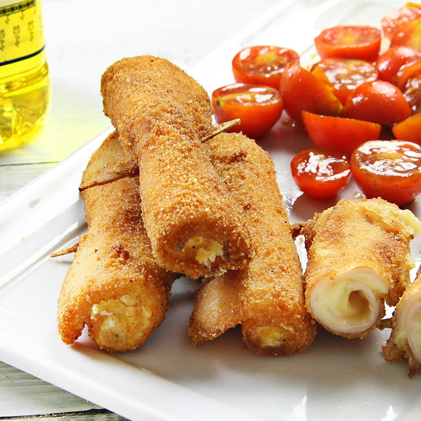 recetas ybarra rollitos de pavo y queso