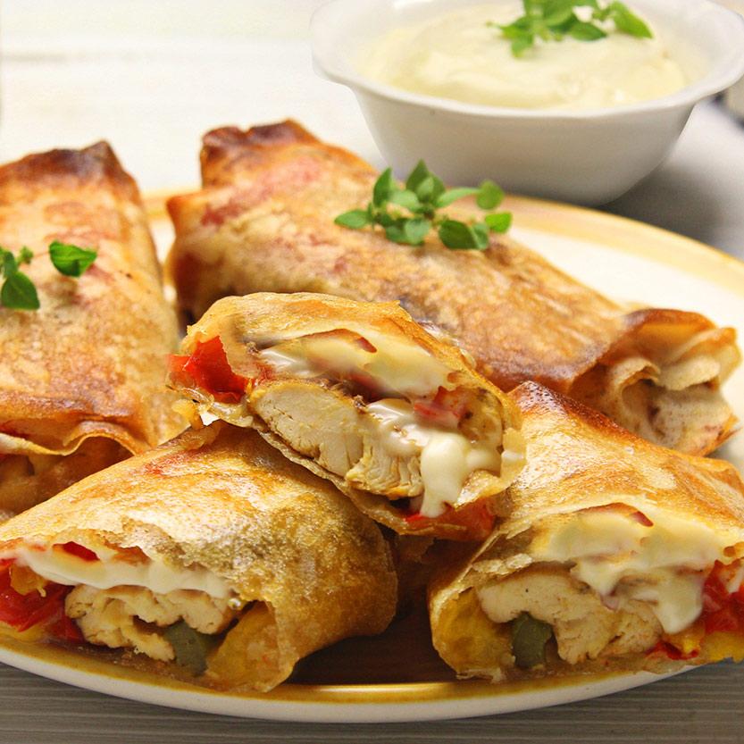 recetas ybarra rollitos de pollo y pimiento