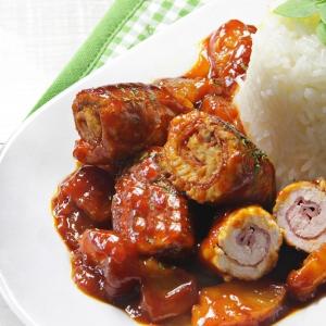 recetas ybarra rollitos de pollo con salsa barbacoa