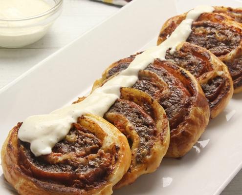 recetas ybarra rollitos de ternera con jamon, pate y salsa kebab