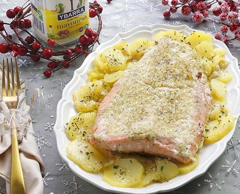 recetas ybarra salmon gratinado con mayonesa