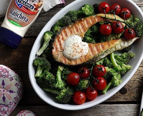 recetas ybarra salmon con salsa ranchera