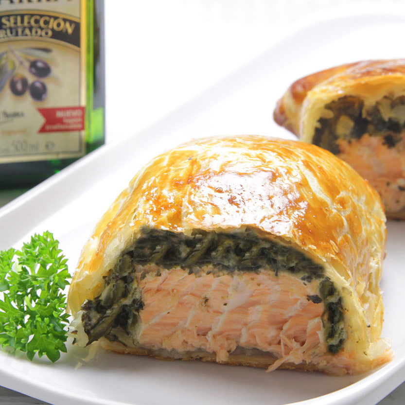 recetas ybarra salmon wellington