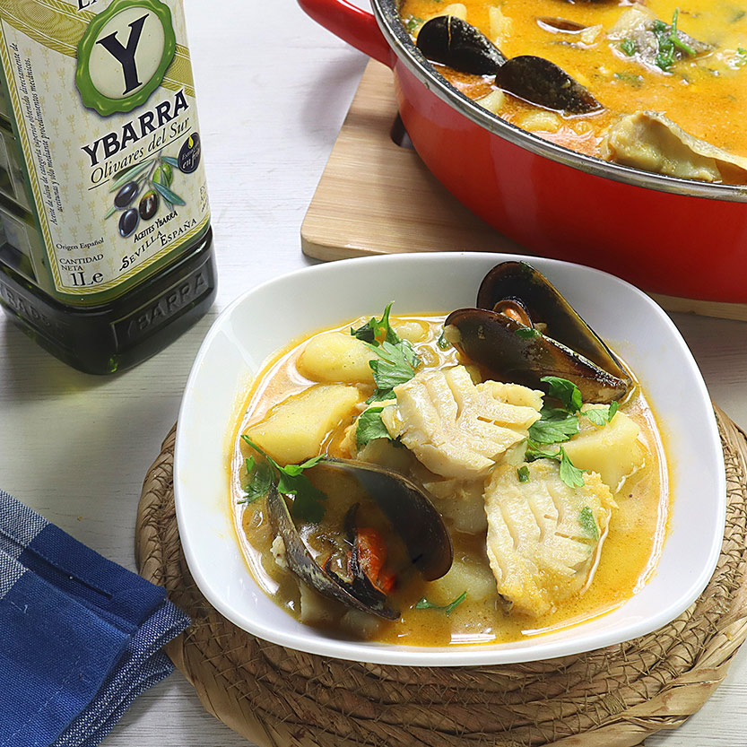 recetas ybarra suquet de bacalao con aceite virgen extra